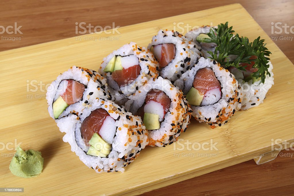 sushi with wasabi royalty-free stock photo
