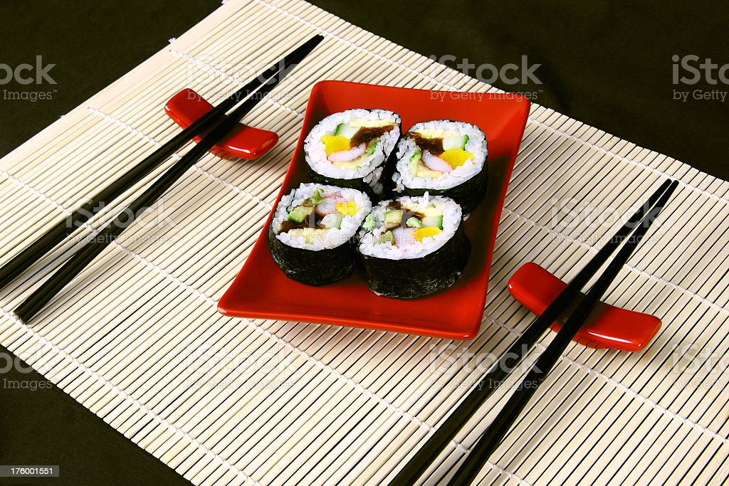 Sushi/Maki for two royalty-free stock photo