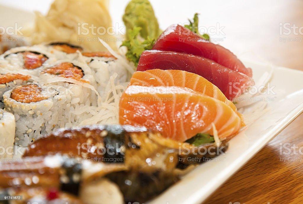 Sushi/Sashmi Platter royalty-free stock photo