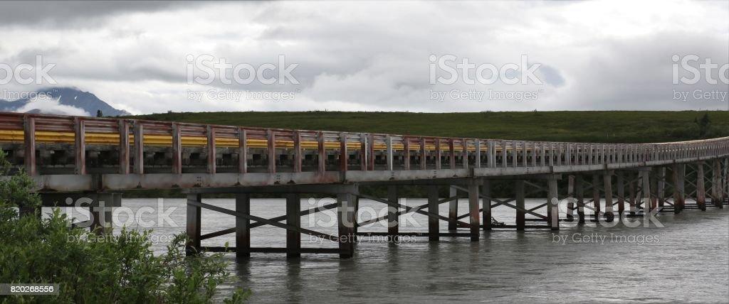 Susitna River Bridge stock photo