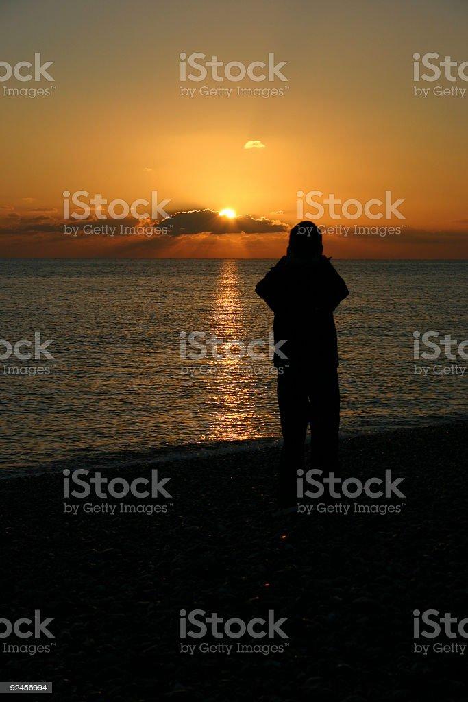 Susnet Silhouette stock photo