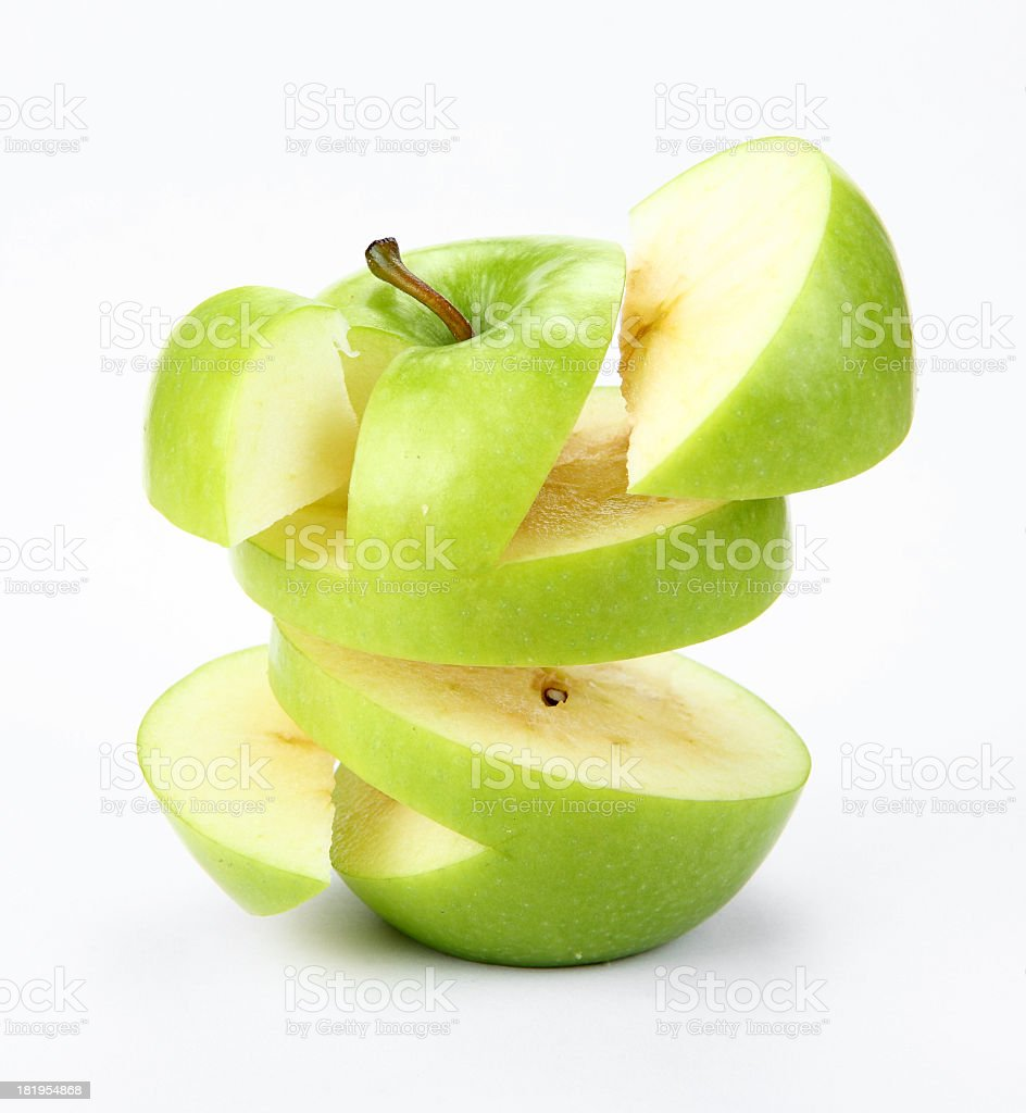 suspended apple royalty-free stock photo