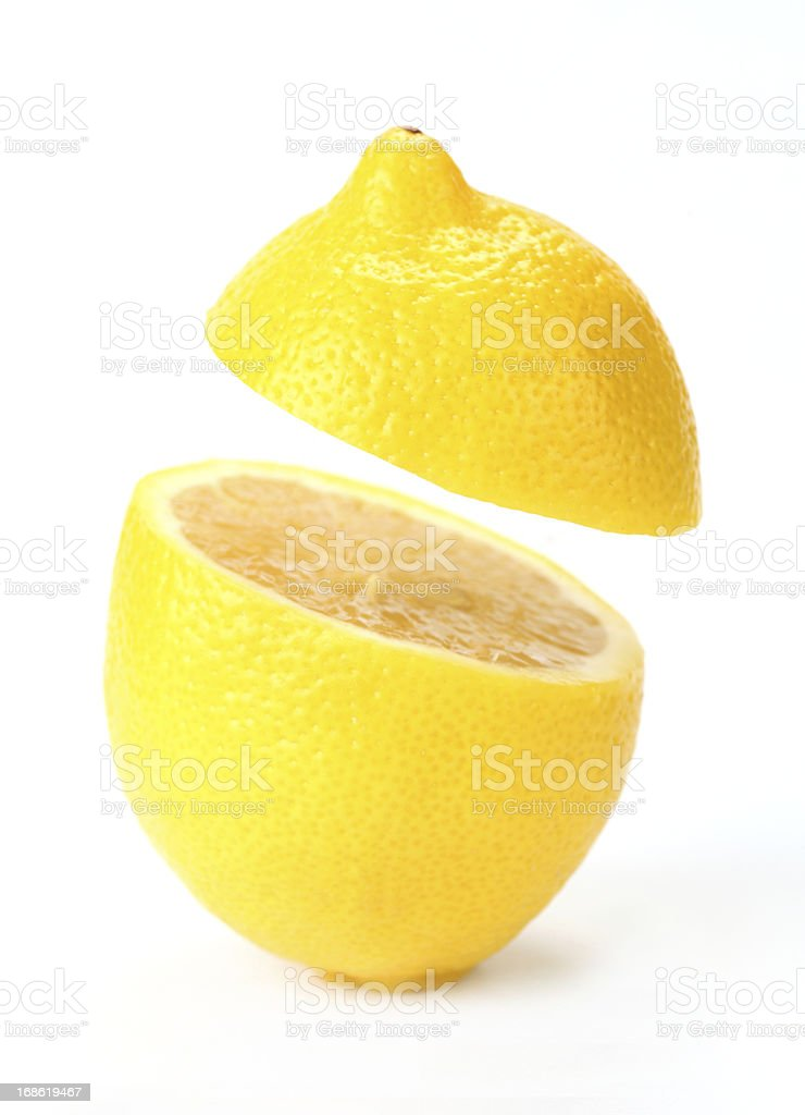 suspended lemon royalty-free stock photo