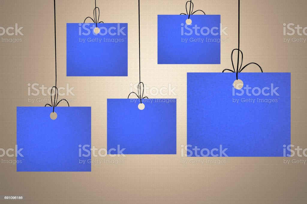 Suspended signs - Advertisements stock photo