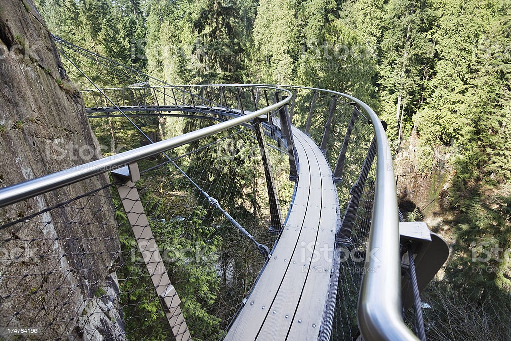 Suspended Walkway stock photo