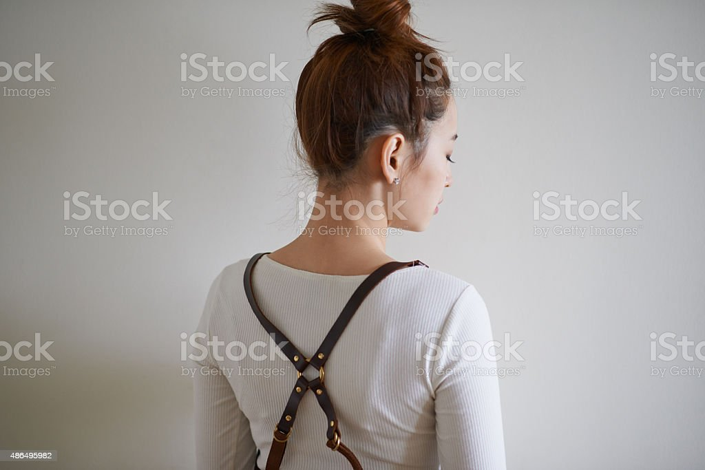 Suspenders are back! stock photo