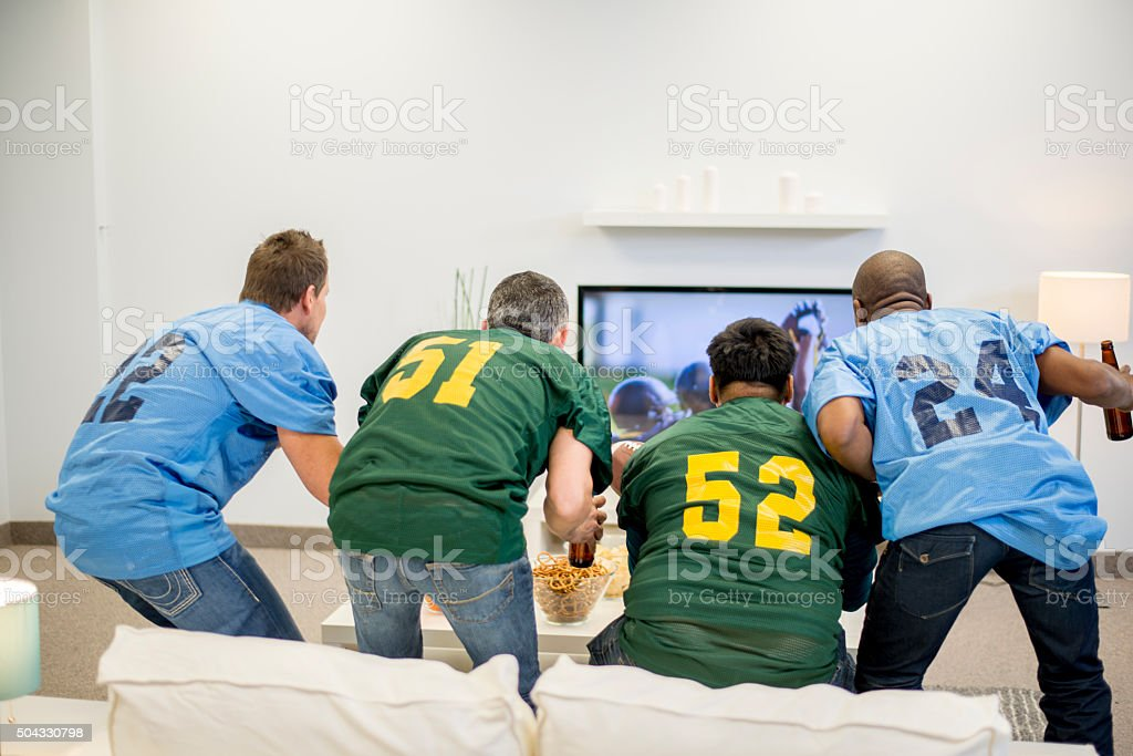 Suspense During the Game stock photo
