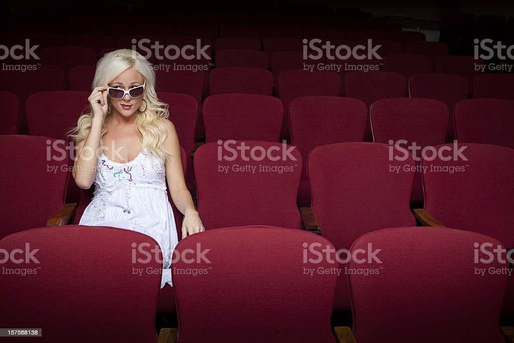 suspenseful movie stock photo