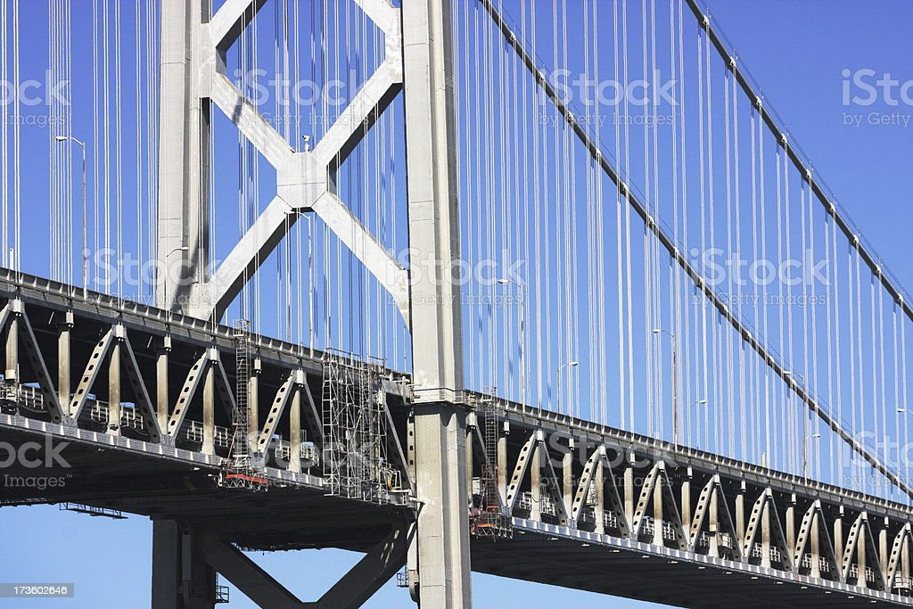 Suspension Bridge Cable-Stayed Tower Girders royalty-free stock photo