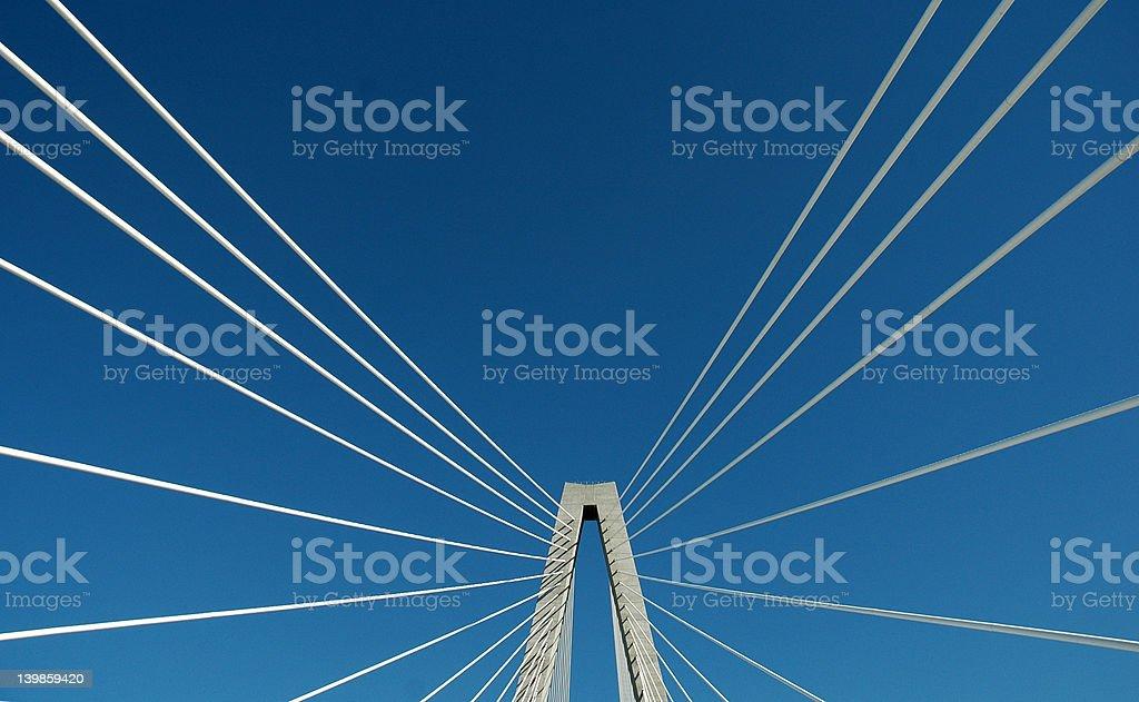 Suspension Bridge Detail royalty-free stock photo