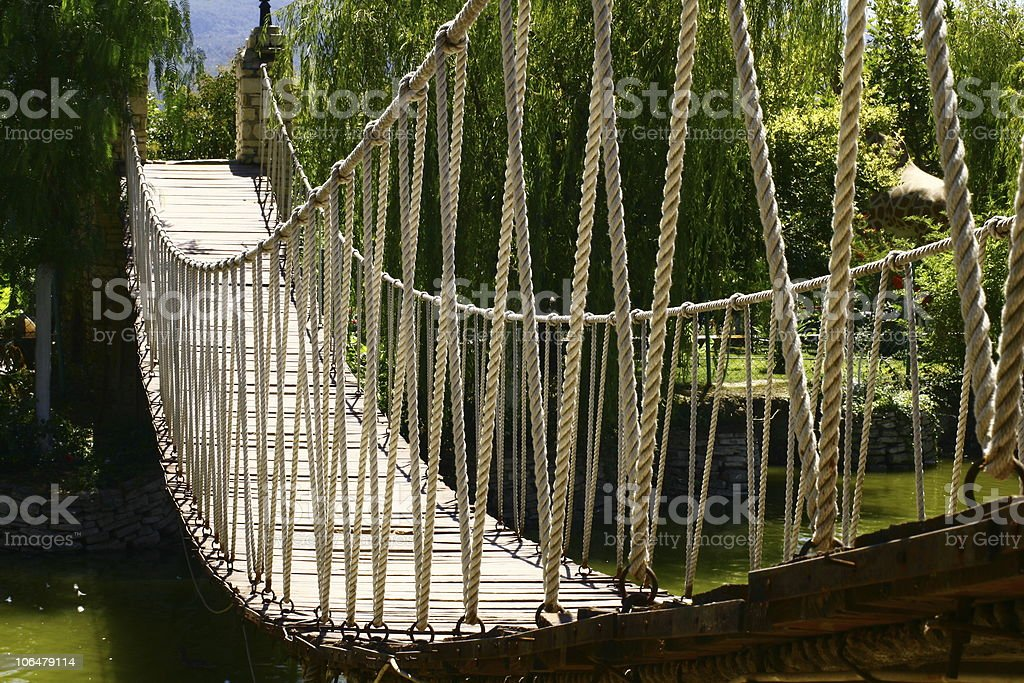 suspension bridge / drawbridge royalty-free stock photo