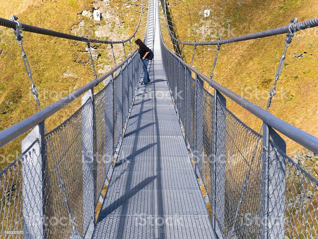 Suspension bridge on Stubnerkogel royalty-free stock photo