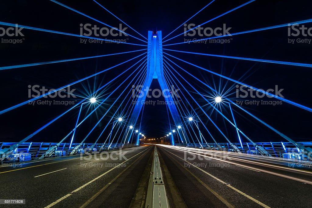 Suspension Bridge over Boyne stock photo