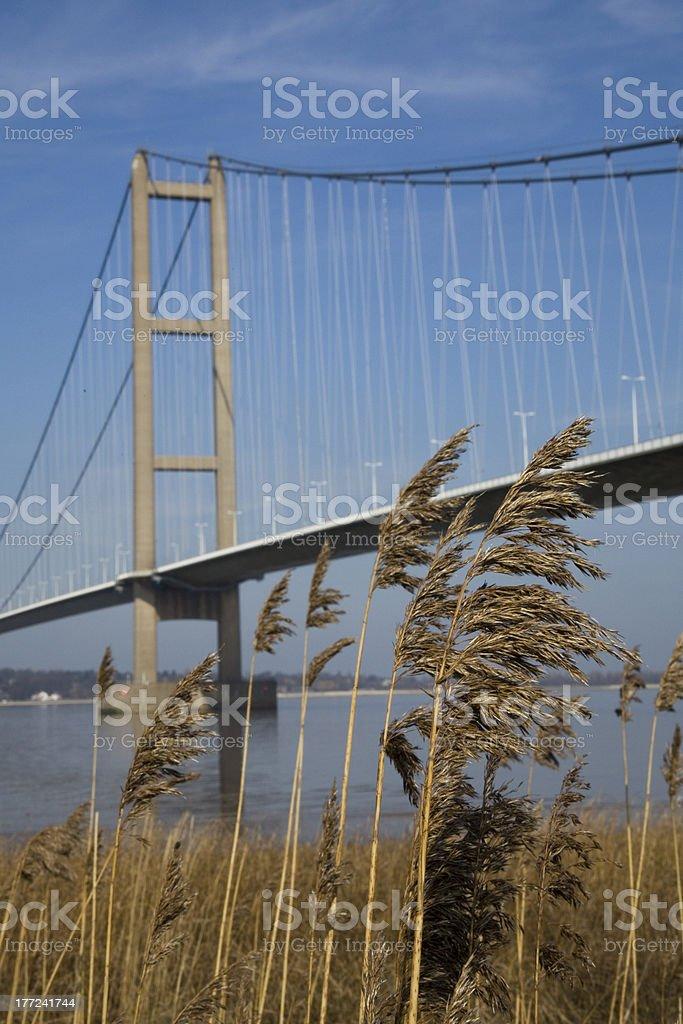 Suspension Bridge over the Humber Estuary Hull Humberside stock photo