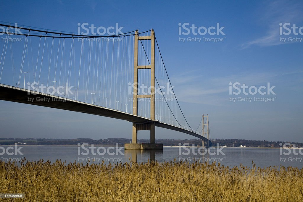 Suspension Bridge over the Humber Estuary stock photo