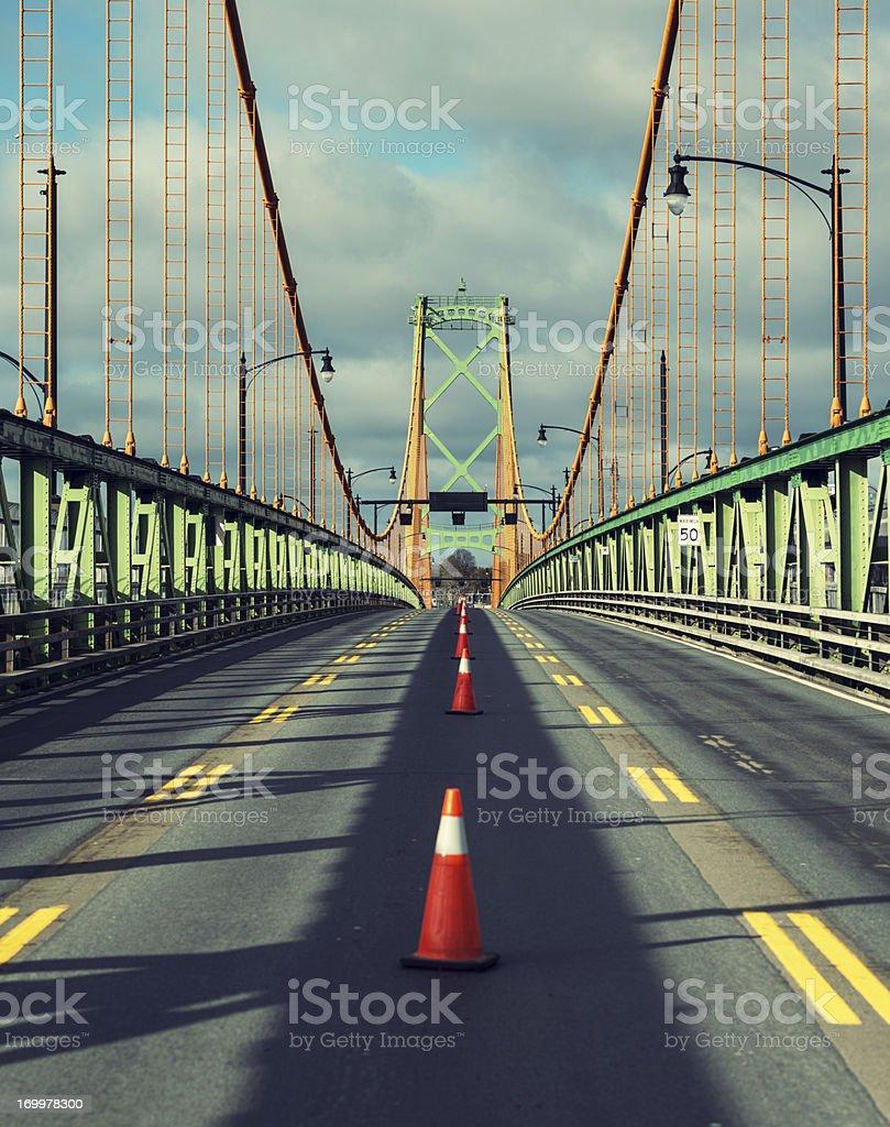 Suspension Bridge royalty-free stock photo