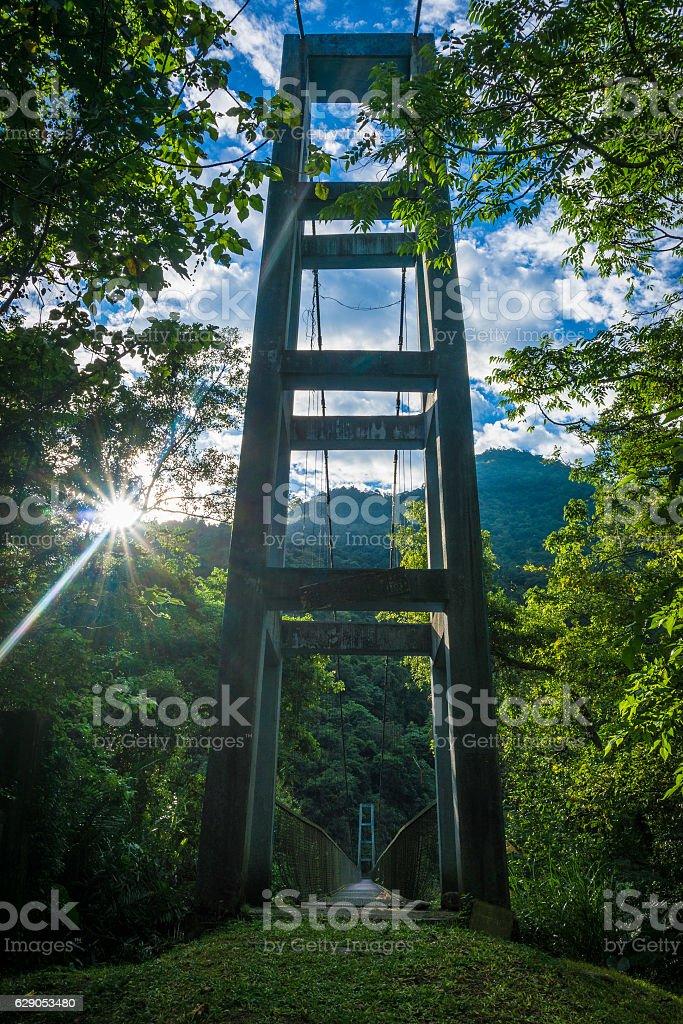 Suspension Bridge stock photo