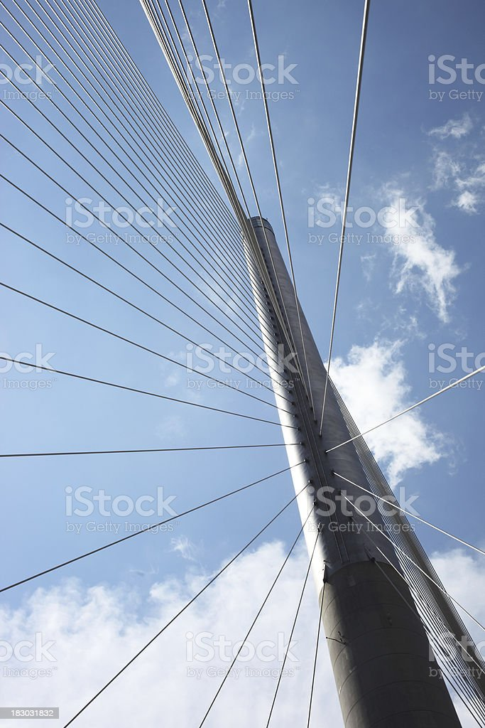 Suspension Bridge Steel Cables royalty-free stock photo