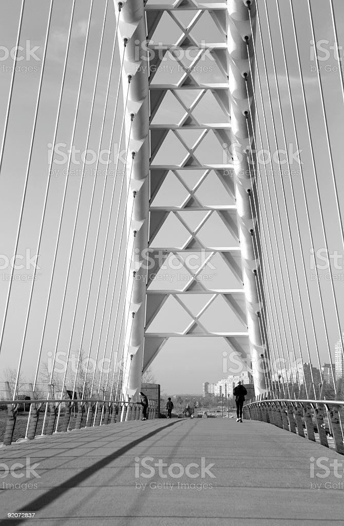 Suspension Bridge Support royalty-free stock photo