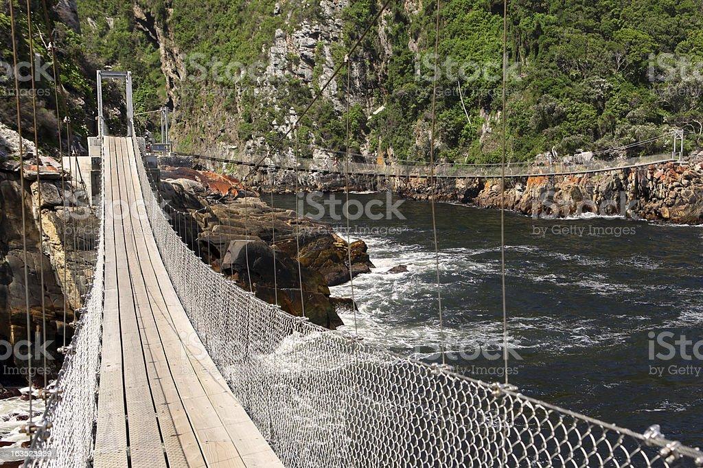 Suspension Bridge, Tsitsikamma NP, South Africa royalty-free stock photo