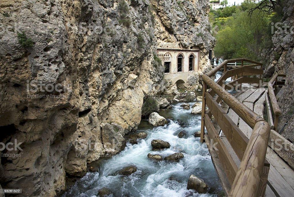 Suspension bridges of Castril (Spain). royalty-free stock photo
