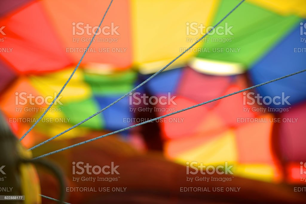 Suspension Lines that connect the envelope to the basket stock photo