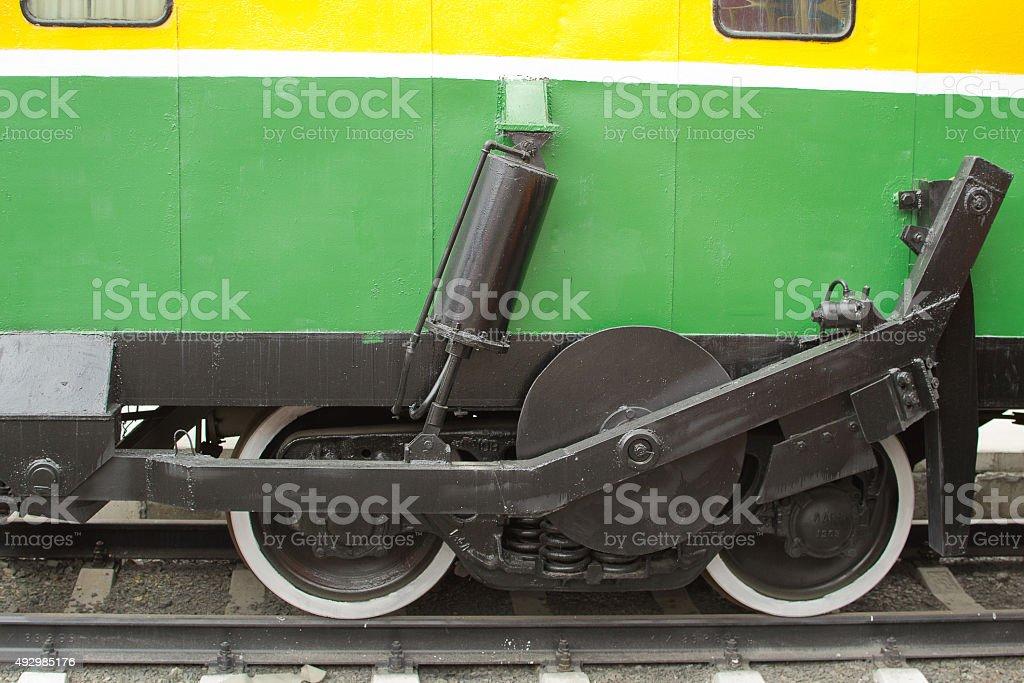 suspension of the car stock photo