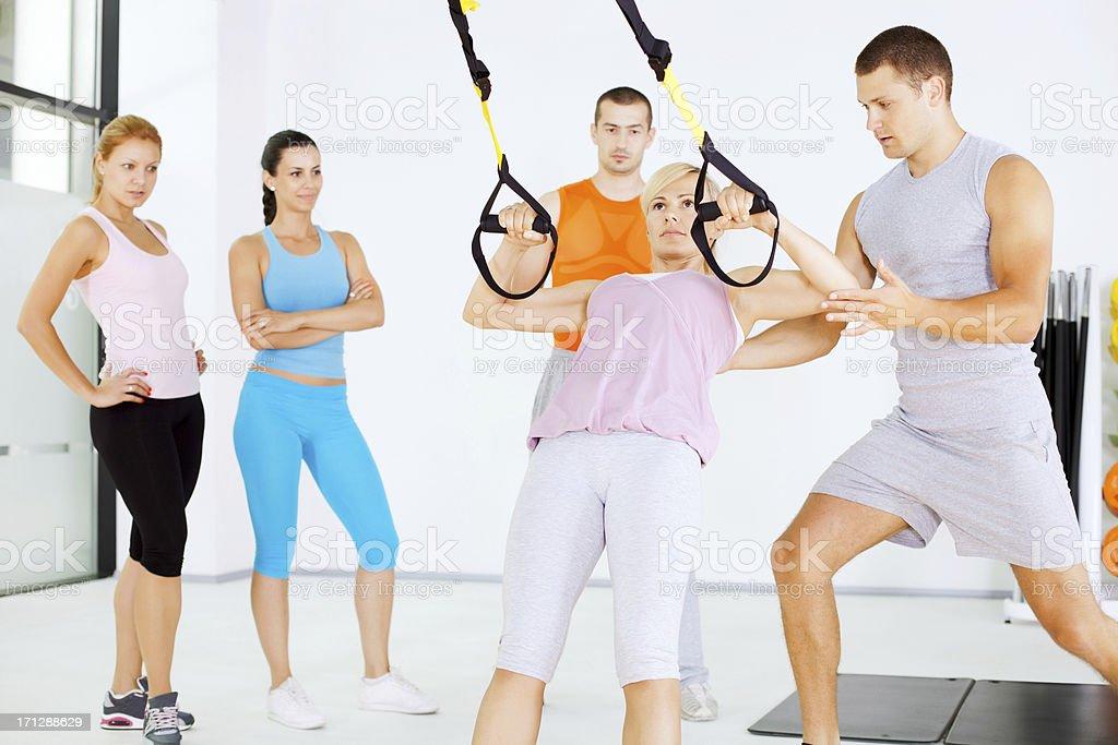 Suspension training royalty-free stock photo