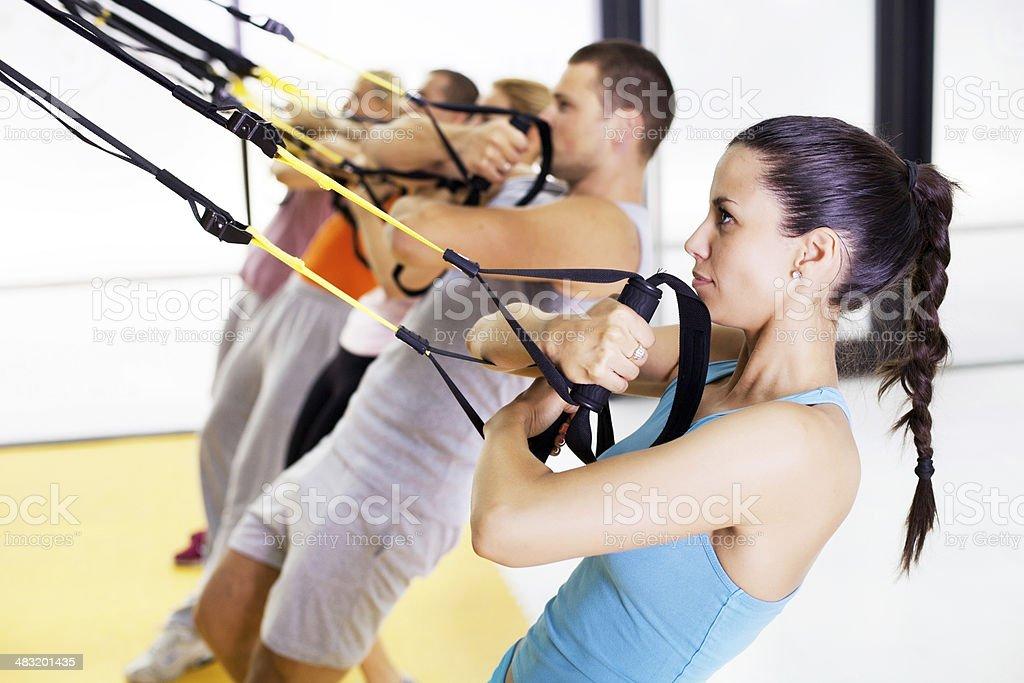 Suspension training stock photo