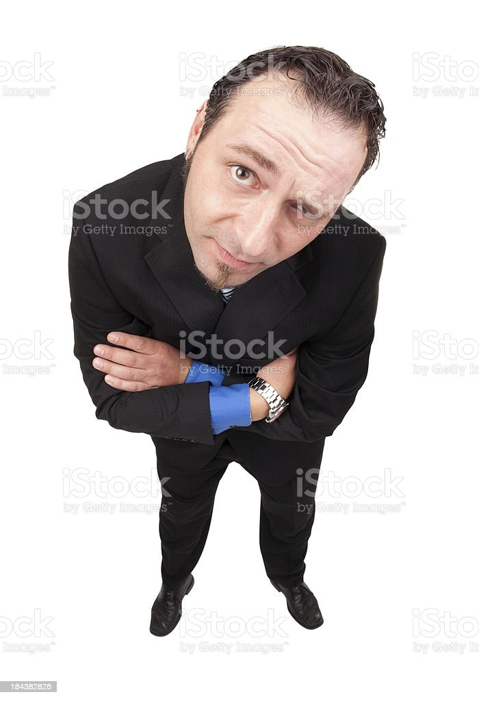 Suspicious Business Man royalty-free stock photo