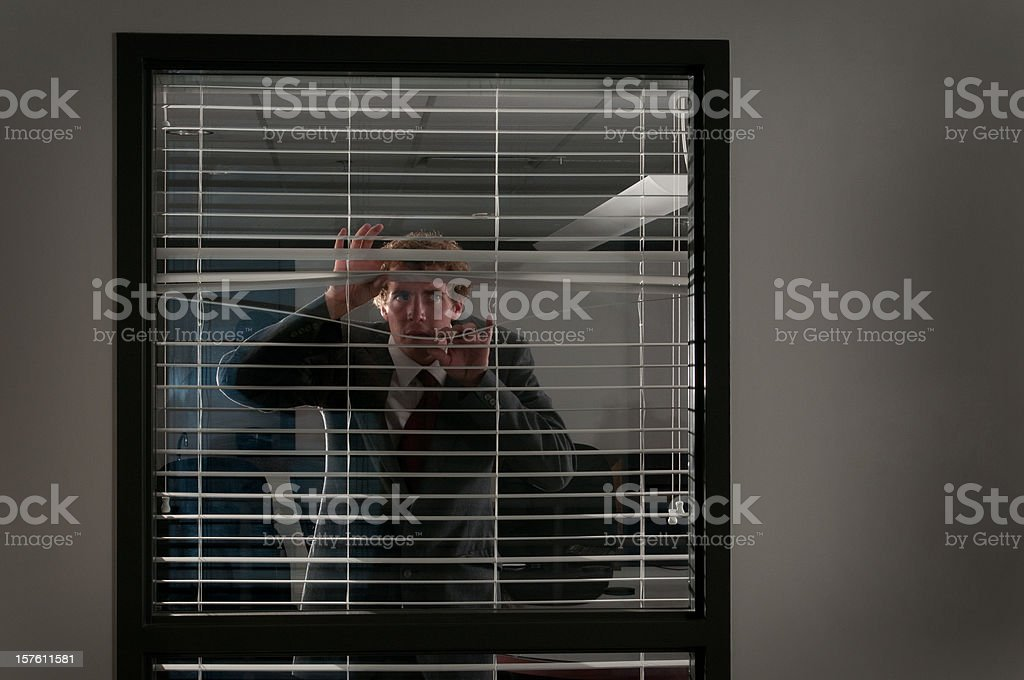 Suspicious Businessman royalty-free stock photo