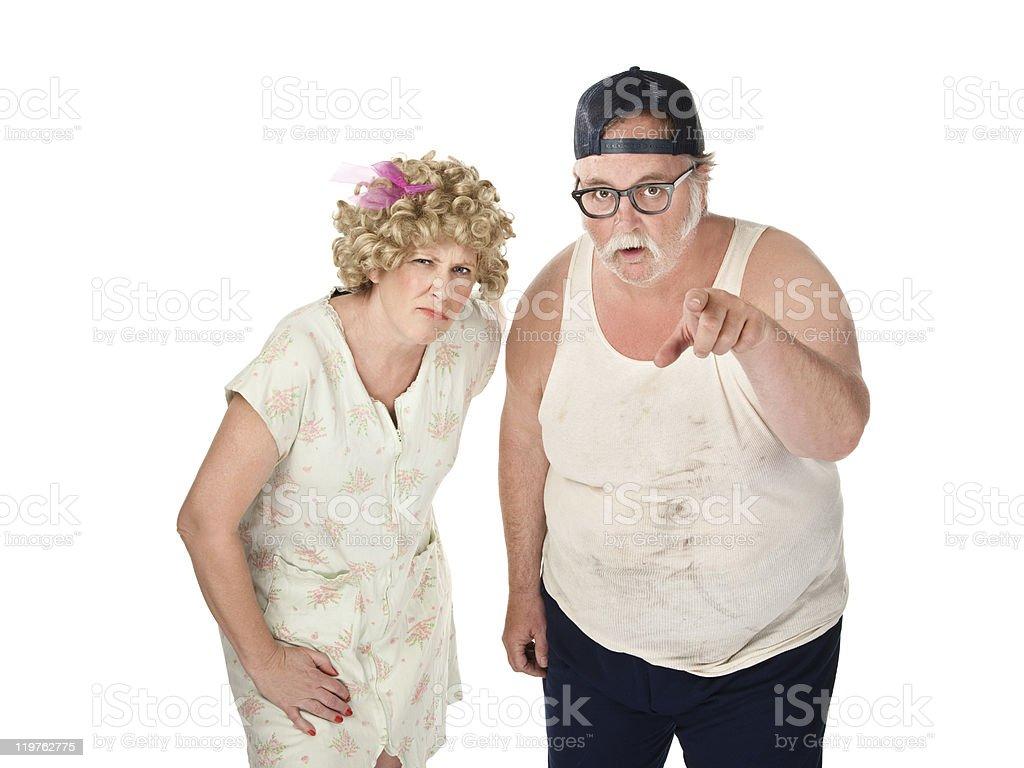 Suspicious Couple royalty-free stock photo