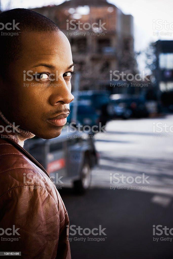 Suspicious Eyes stock photo