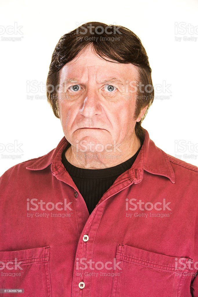 Suspicious Man stock photo