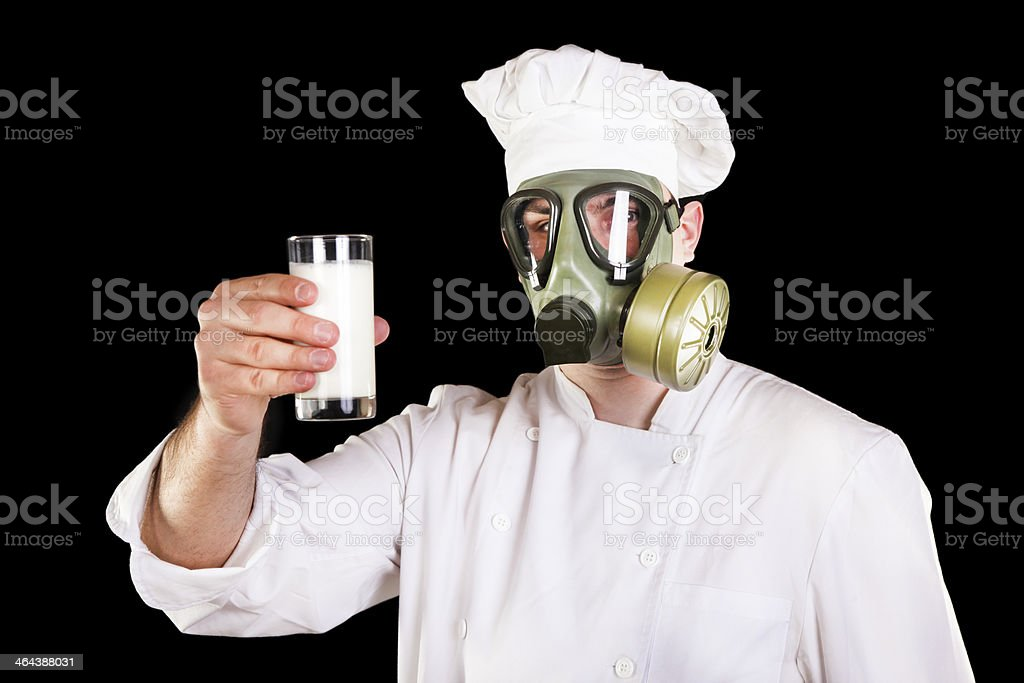 Suspicious milk stock photo