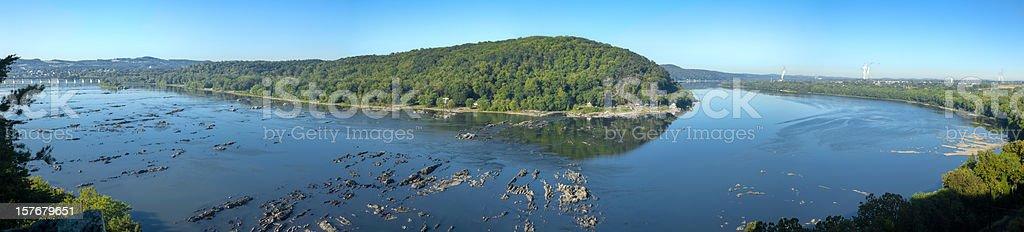 Susquehanna River Panorama stock photo