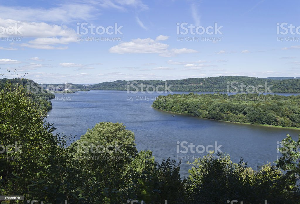 Susquehanna River Scenic View stock photo
