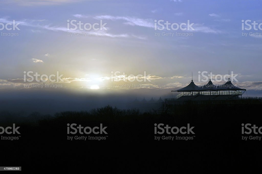 Sussex Countryside at Goodwood stock photo