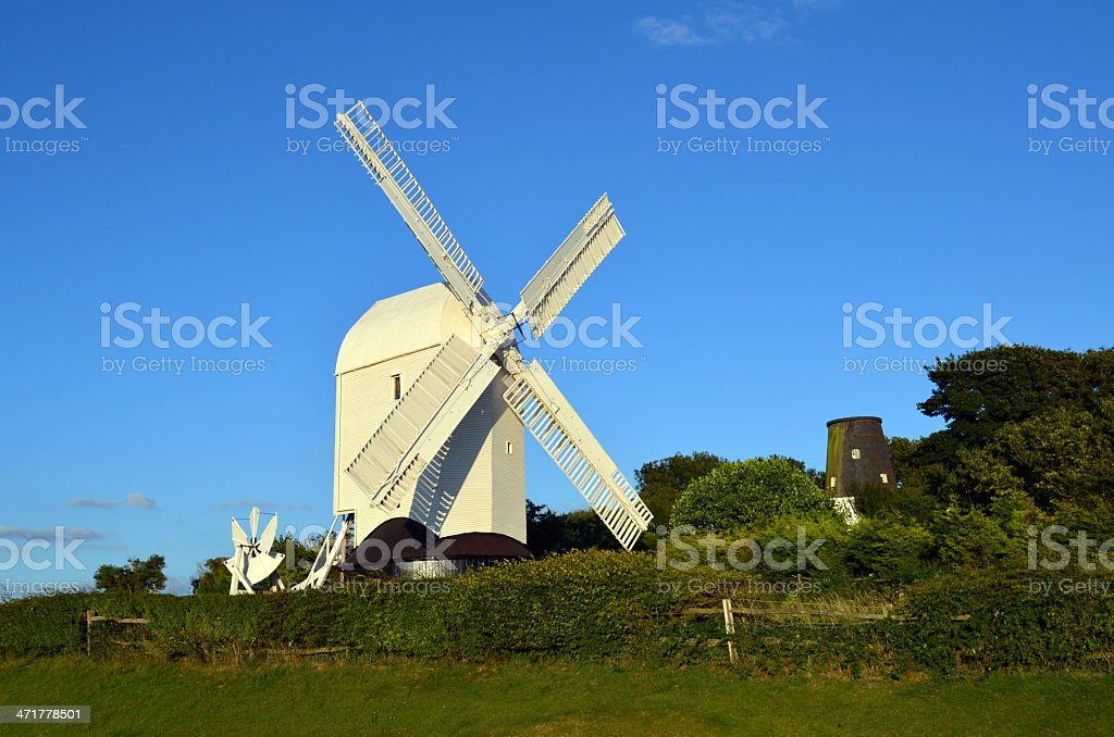 Sussex post windmill stock photo