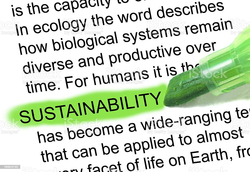 sustainability definition marked in dictionary stock photo