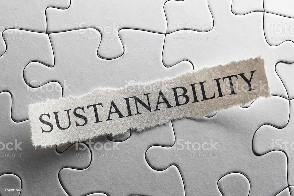 Sustainability royalty-free stock photo