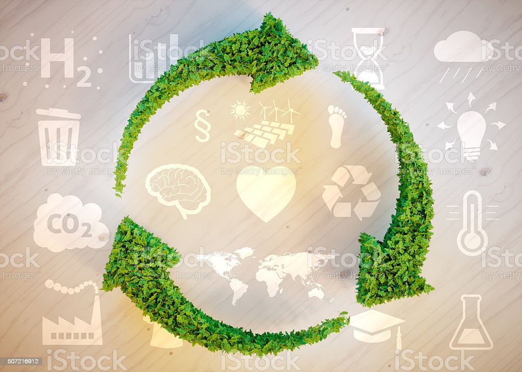 Sustainable development concept stock photo