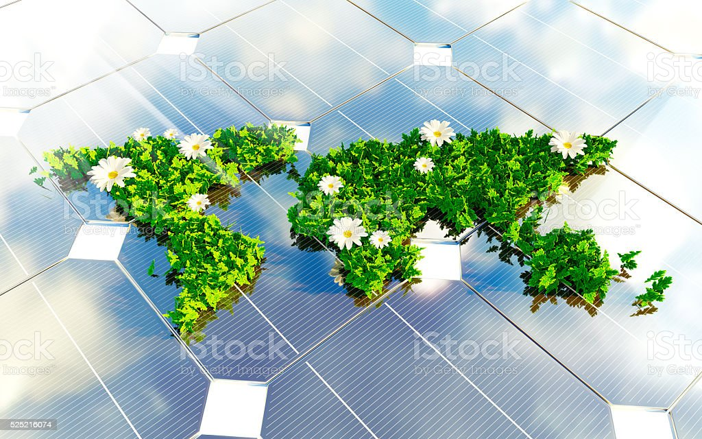 Sustainable energy 3d illustration stock photo