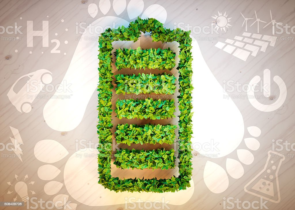Sustainable energy concept. stock photo