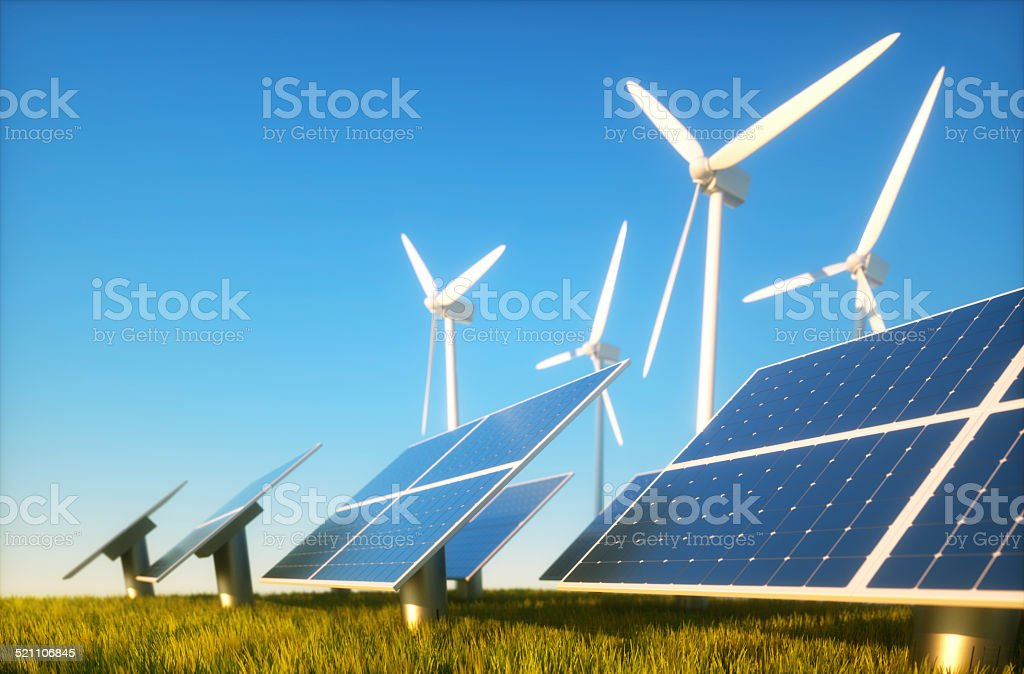 Sustainable energy concept stock photo