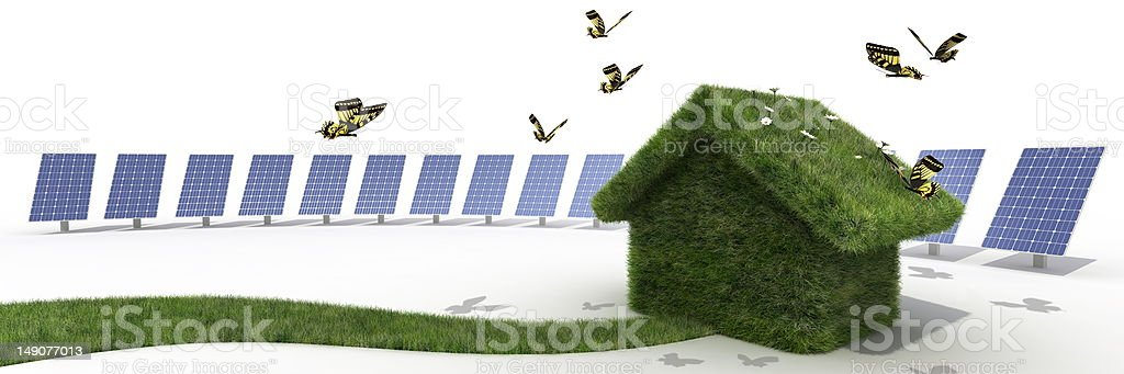 sustainable house fo the future royalty-free stock photo