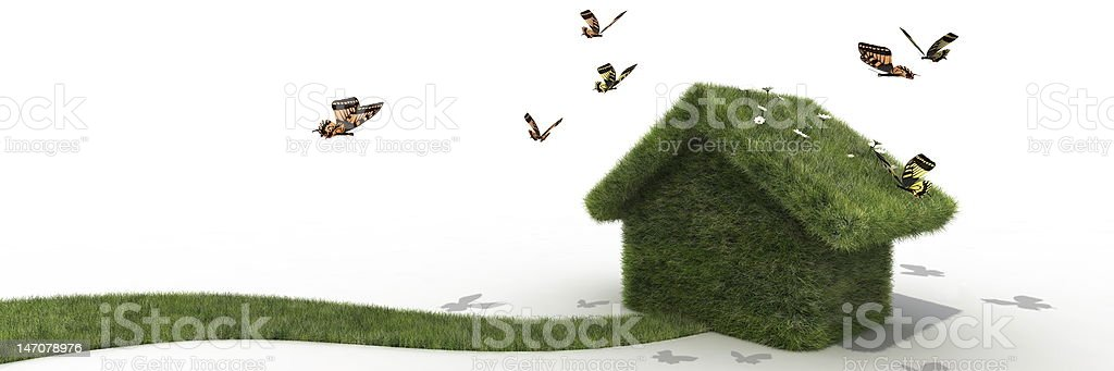 sustainable house royalty-free stock photo