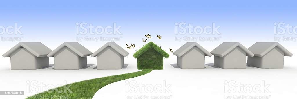 sustainable houses royalty-free stock photo