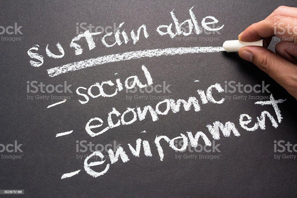 Sustainable stock photo