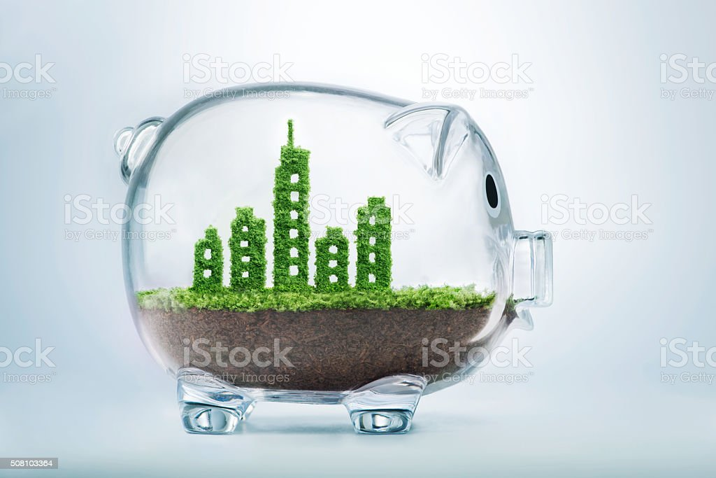 Sustainable urban development stock photo